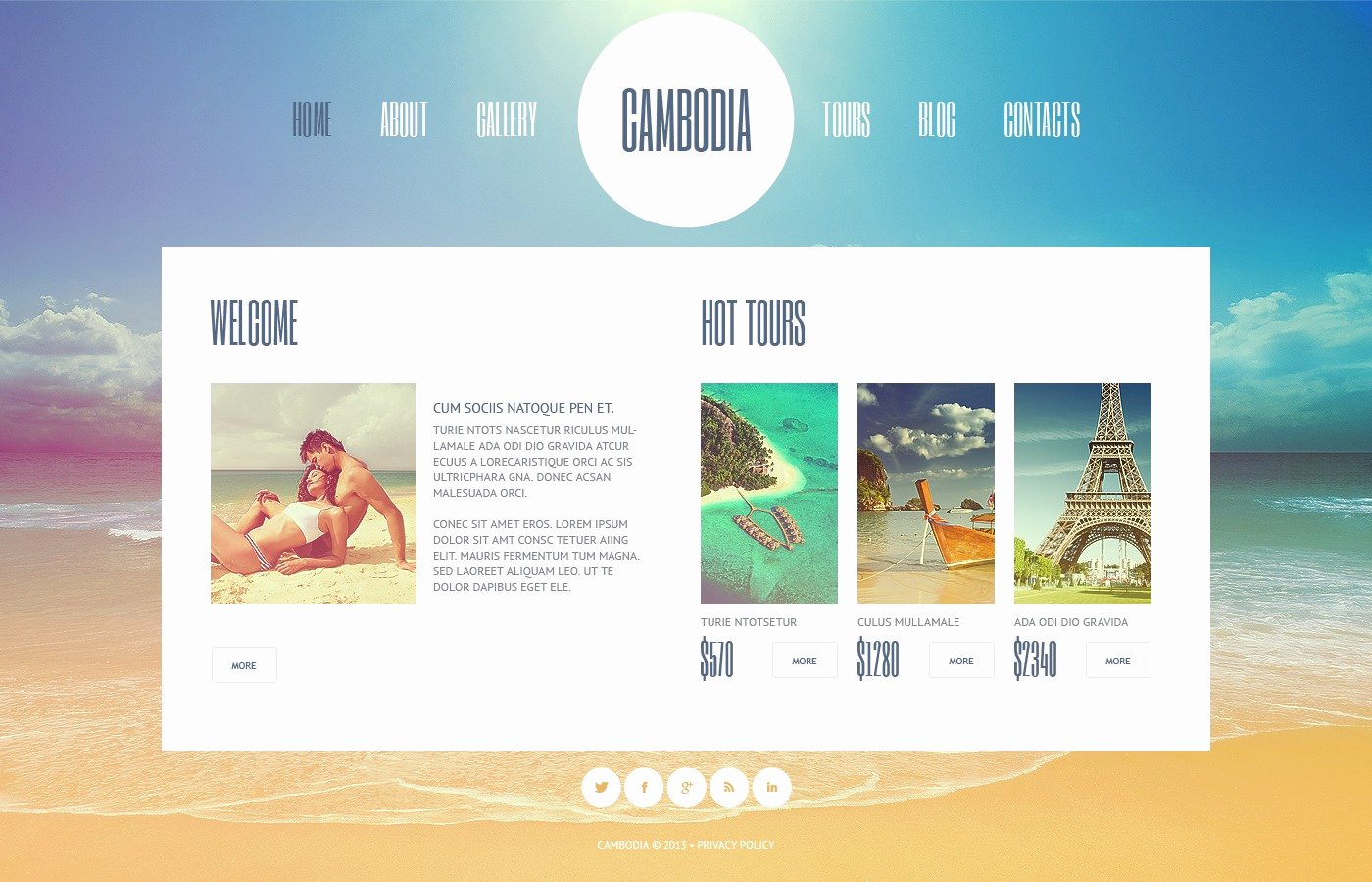 Travel Agency Web Template Elegant Travel Agency Website Template