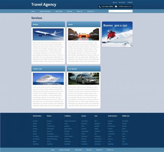 Travel Agency Web Template Fresh Free Travel Agency Website Template