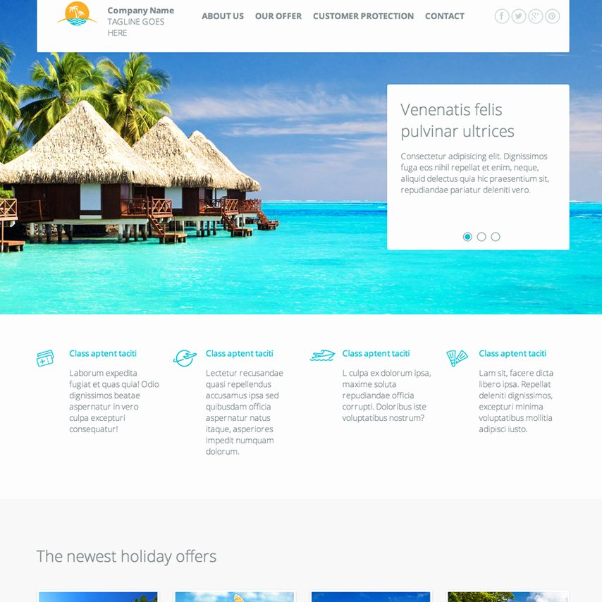 Travel Agency Web Template Fresh Travel Agency Responsive Website Template
