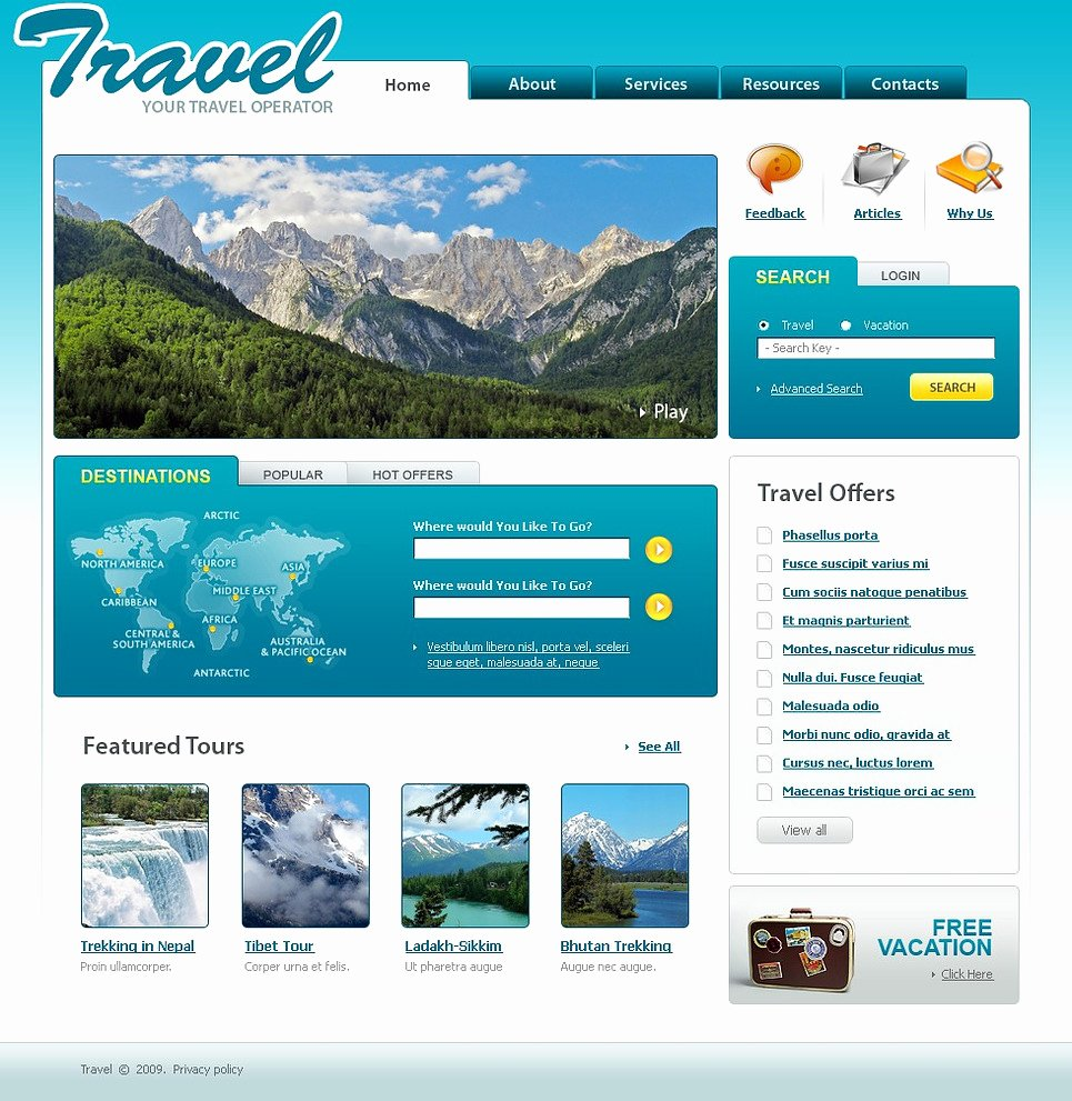 Travel Agency Web Template Inspirational Travel Agency Website Template