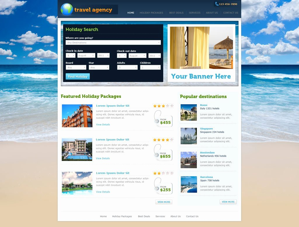 Travel Agency Web Template Inspirational Travel Website Template