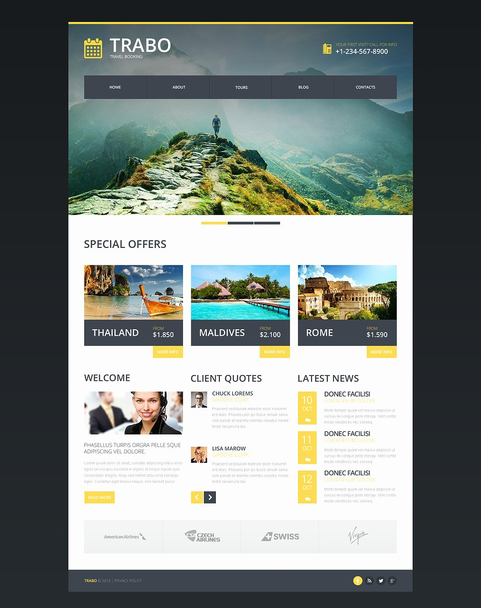 Travel Agency Web Template Lovely Travel Agency Responsive Website Template