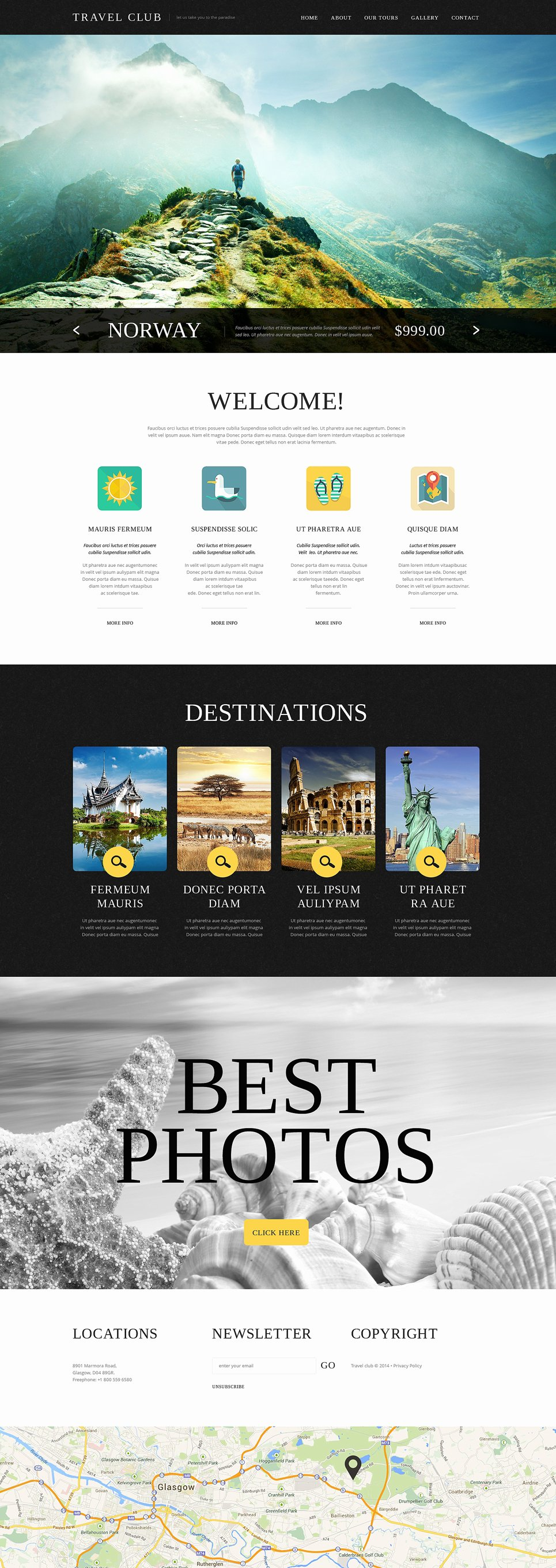 Travel Agency Web Template Lovely Travel Agency Website Template