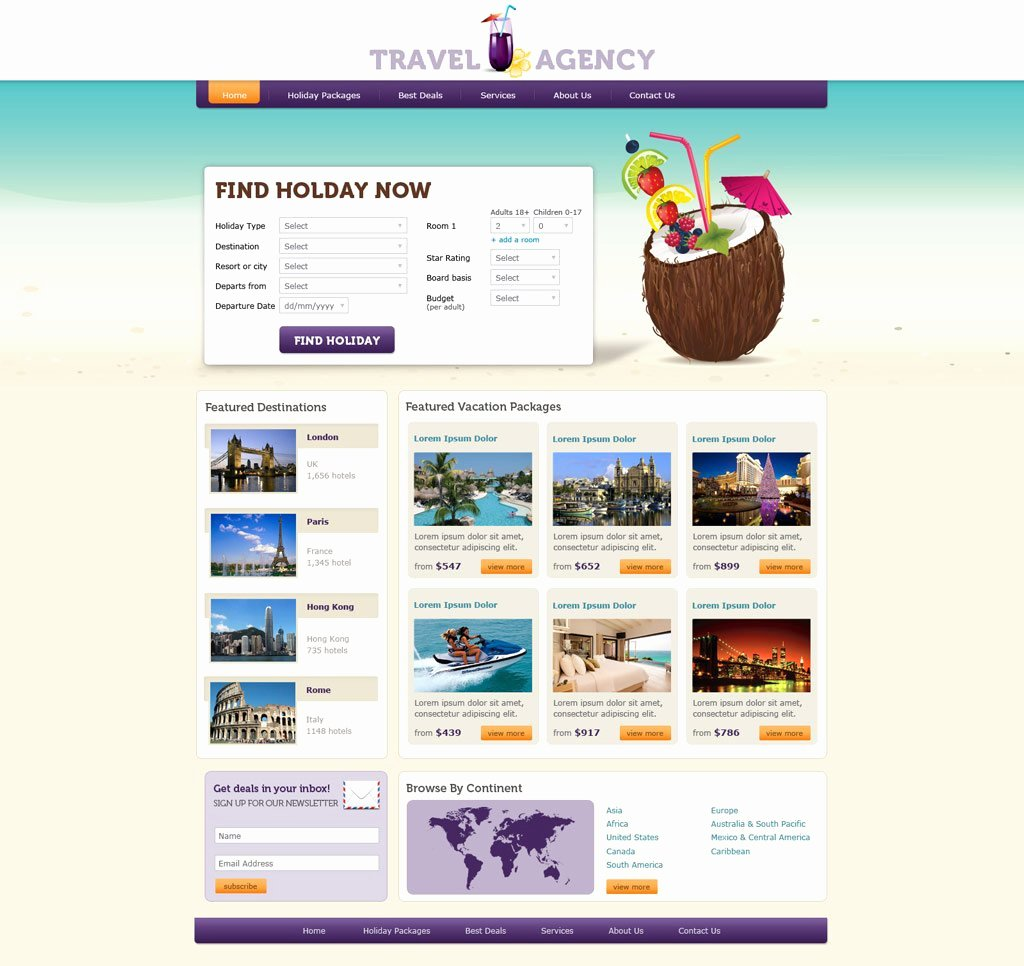 Travel Agency Web Template Lovely Travel Website Template
