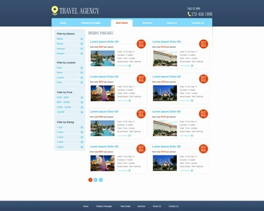 Travel Agency Web Template Luxury Free Travel Agency Website Template