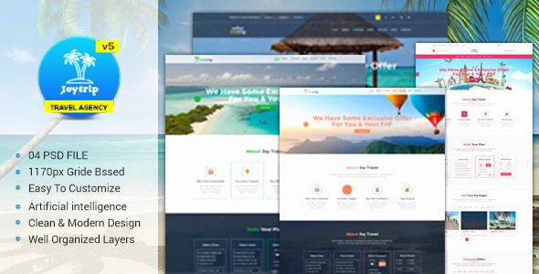 Travel Agency Web Template Luxury Joytrip Travel Agency Website Template by Sabbirmc