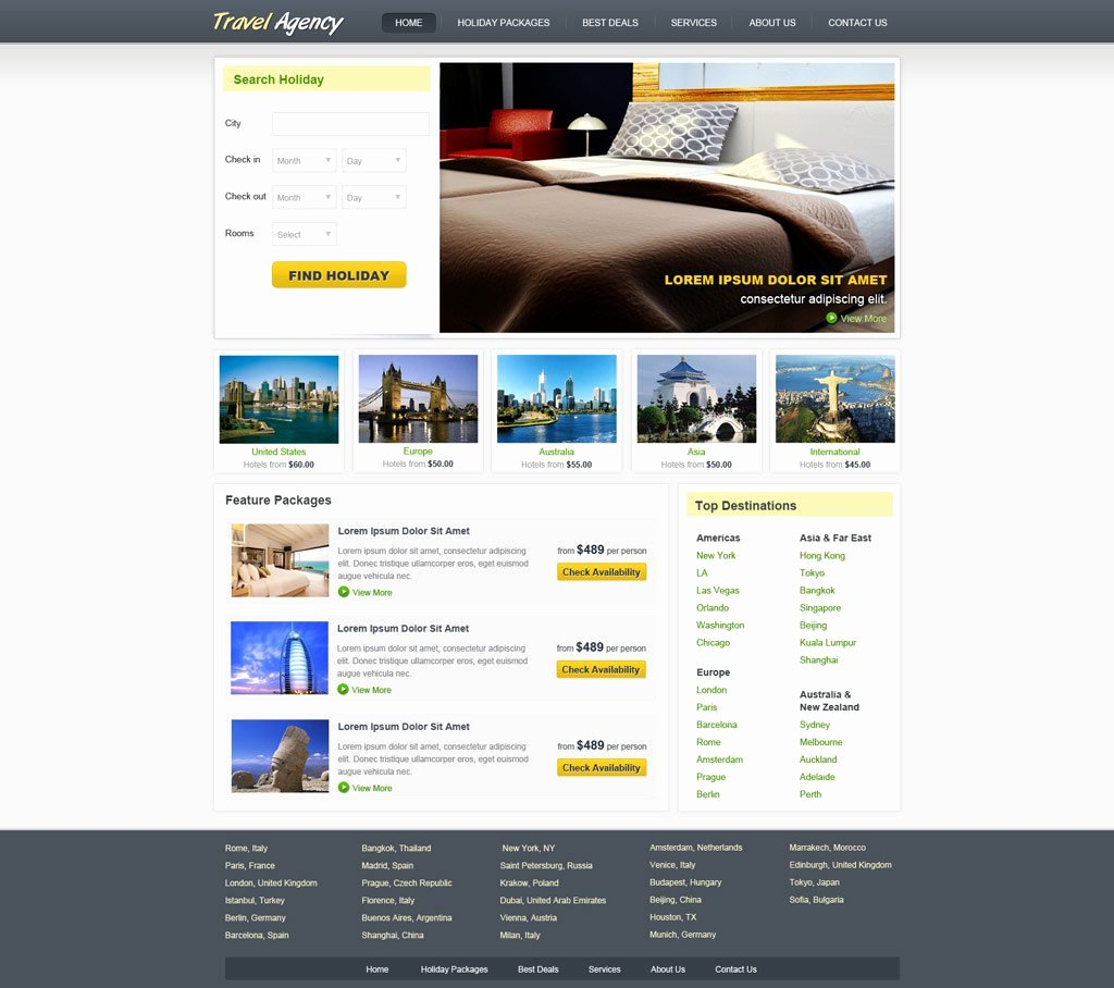 Travel Agency Web Template Luxury Travel Website Template