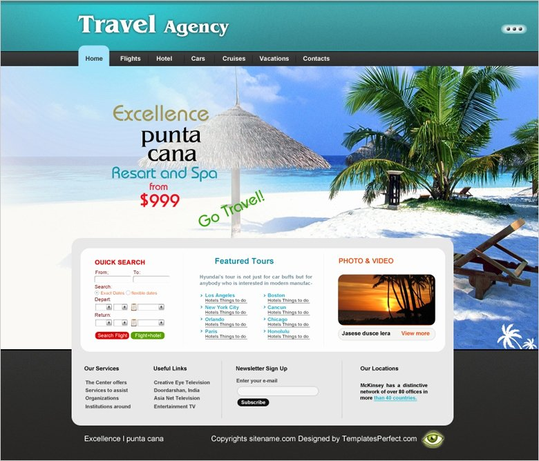 Travel Agency Web Template New Free Travel Agency Website Template
