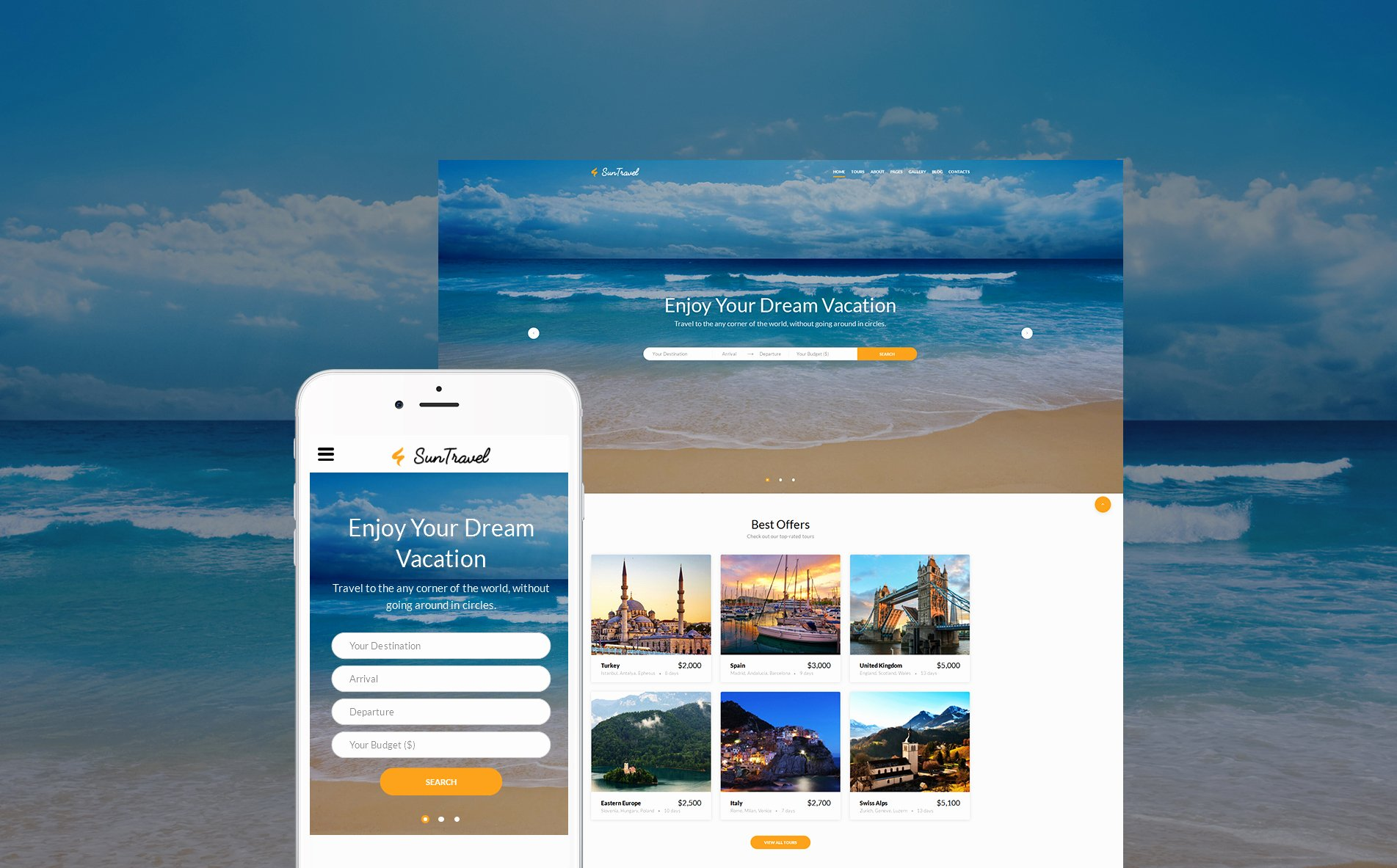 Travel Agency Web Template New Travel Agency Line Web Template