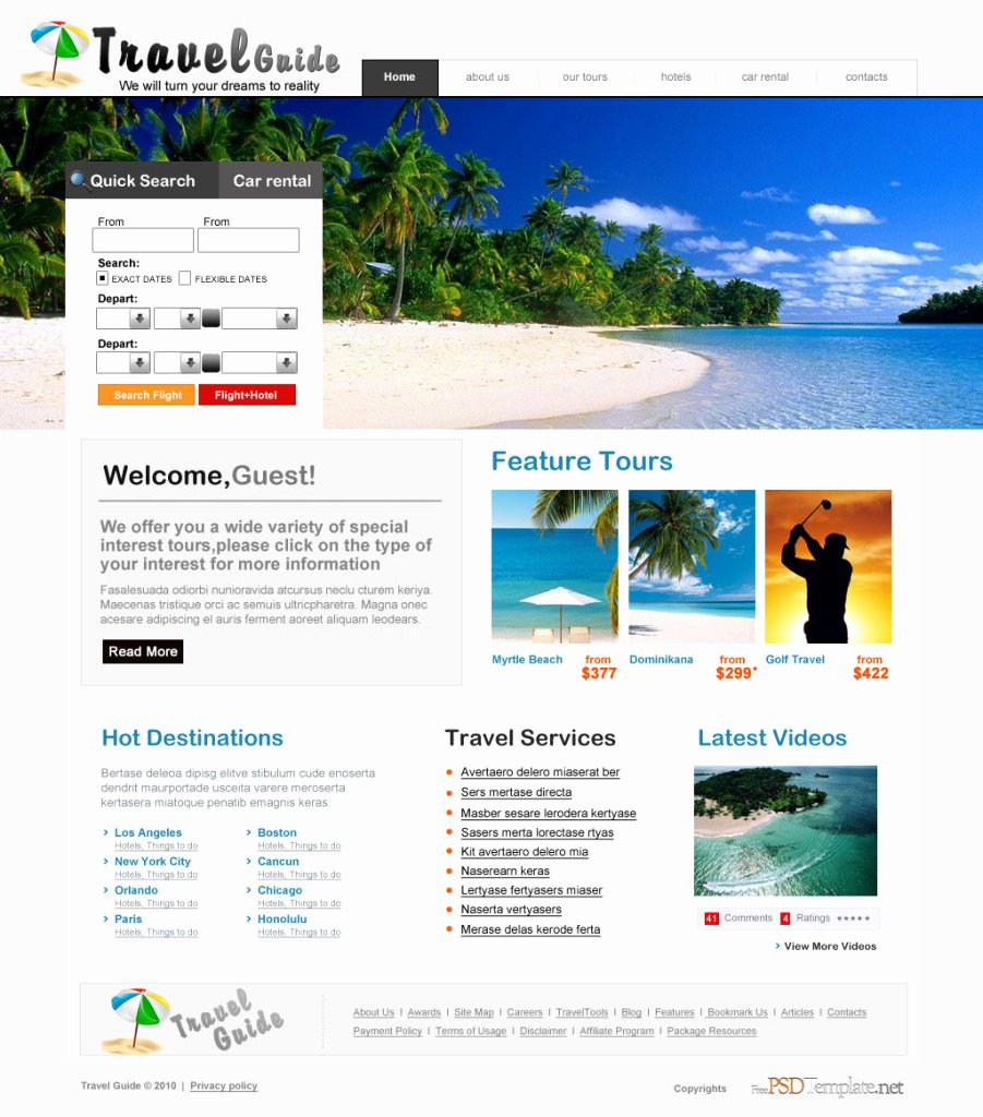 Travel Agency Web Template Unique 55 Practical Website User Interface Design Psd Best Ui
