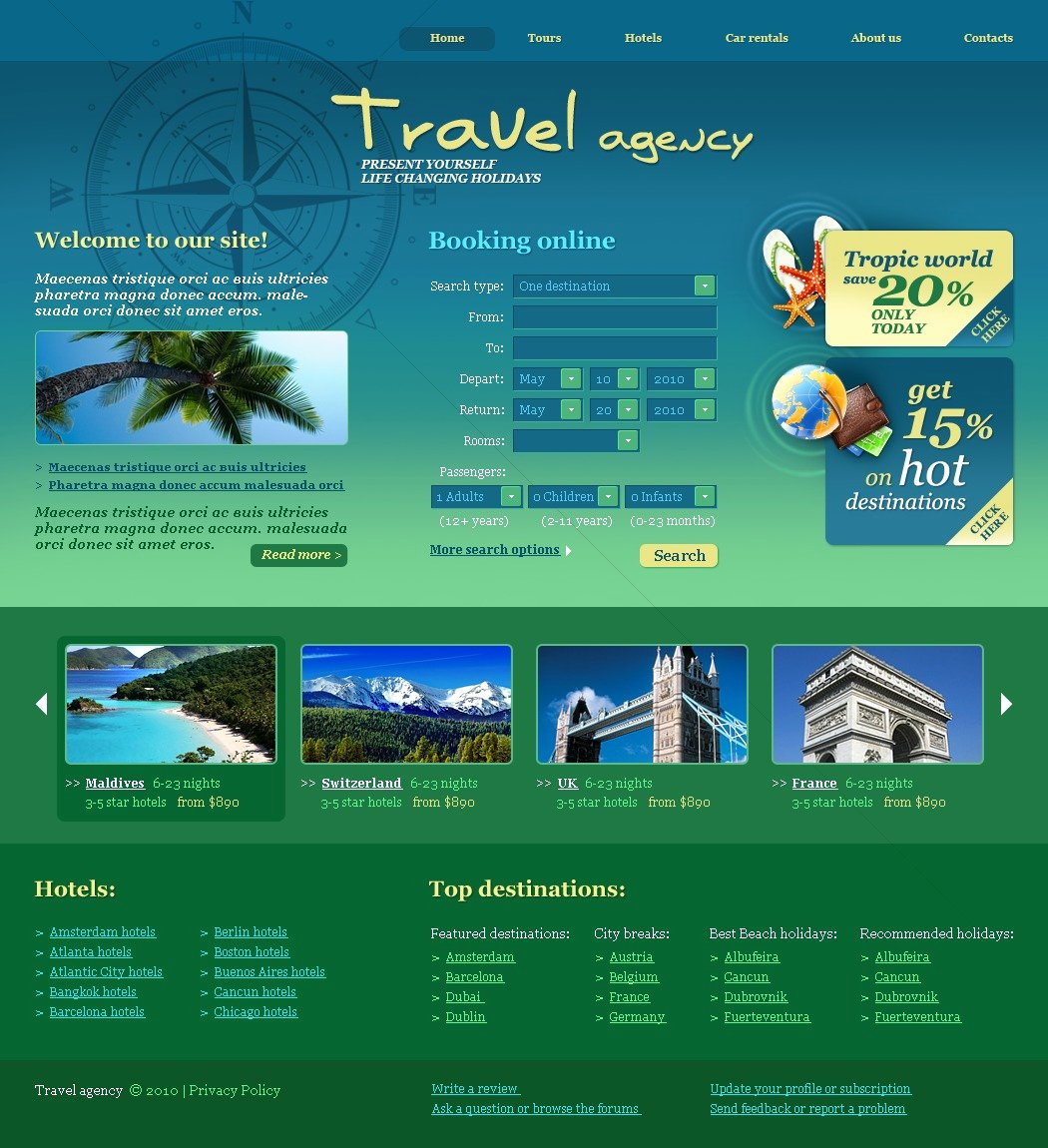 Travel Agency Web Template Unique Travel Agency Website Template