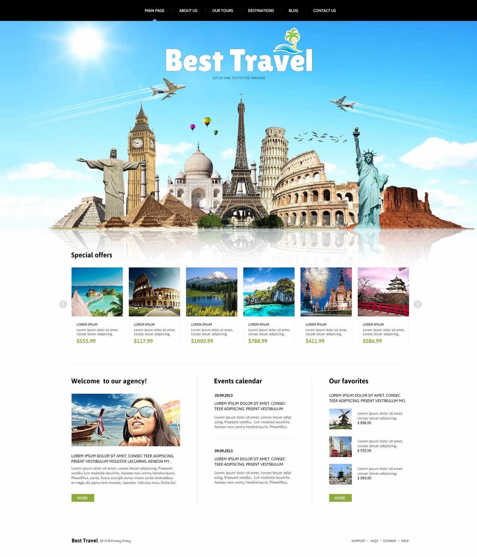 Travel Agency Web Template Unique Travelling Joomla Template