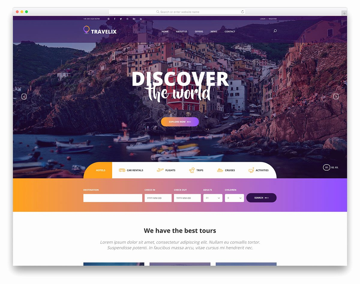 Travel Agency Website Template Elegant 27 Free Travel Agency Website Templates with Premium