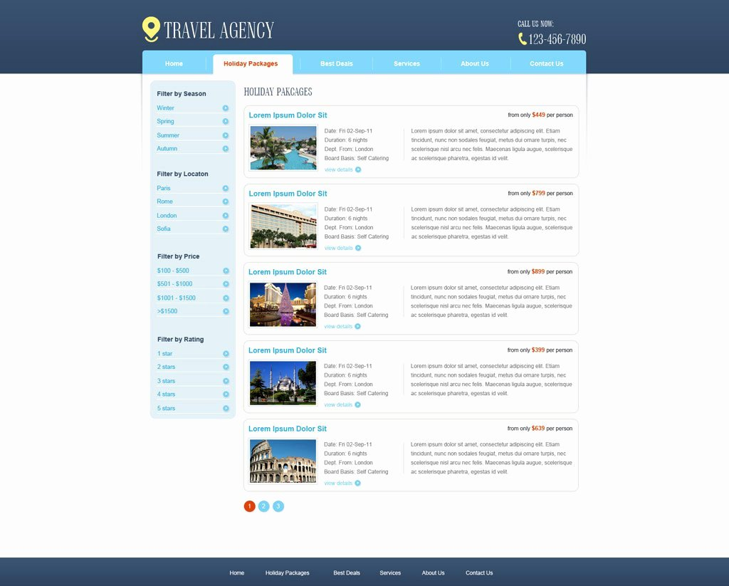 Travel Agency Website Template Inspirational Free Travel Agency Website Template