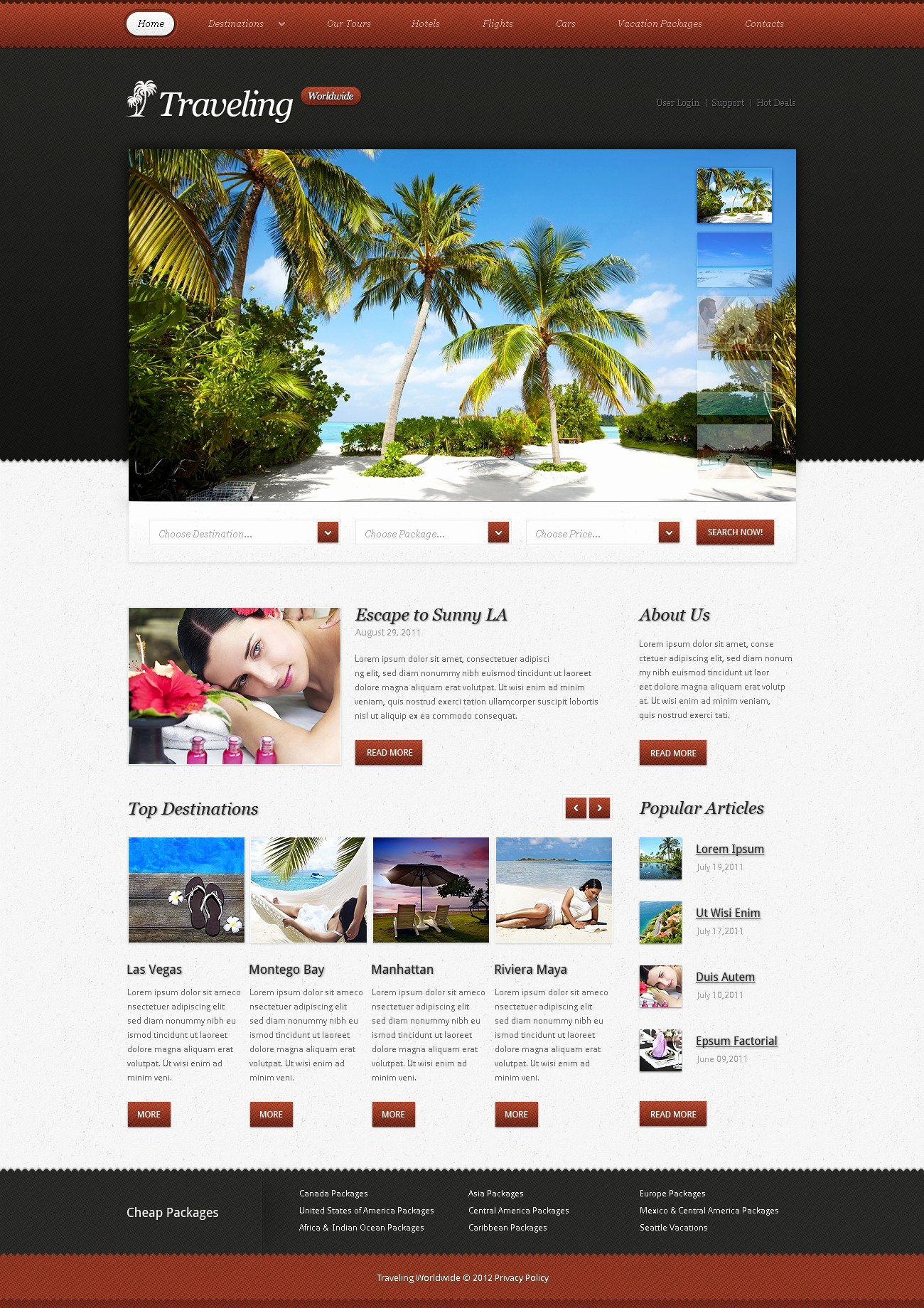 Travel Agency Website Template Inspirational Travel Agency Website Template