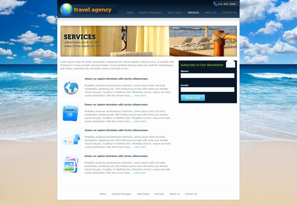 Travel Agency Website Template Inspirational Travel Website Template