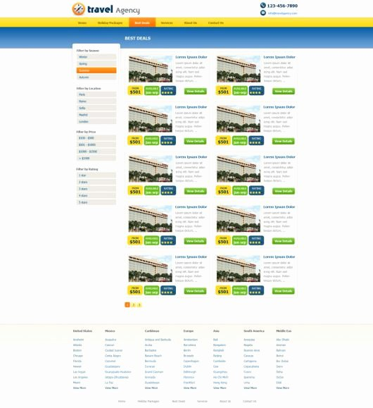 Travel Agency Website Template Lovely Free Travel Agency Website Template