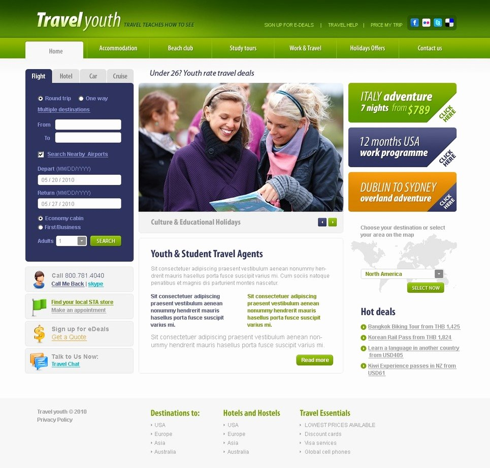 Travel Agency Website Template Luxury Travel Agency Website Template