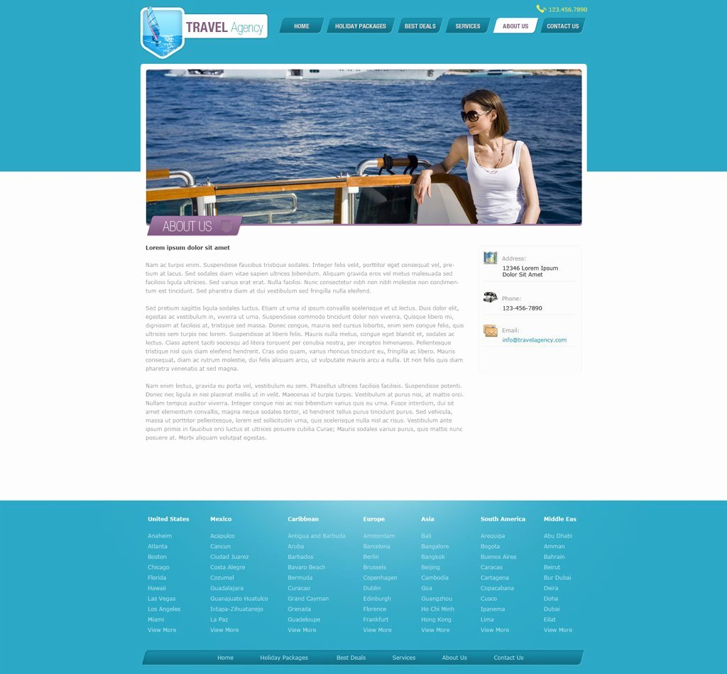 Travel Agency Website Template Luxury Travel Website Template