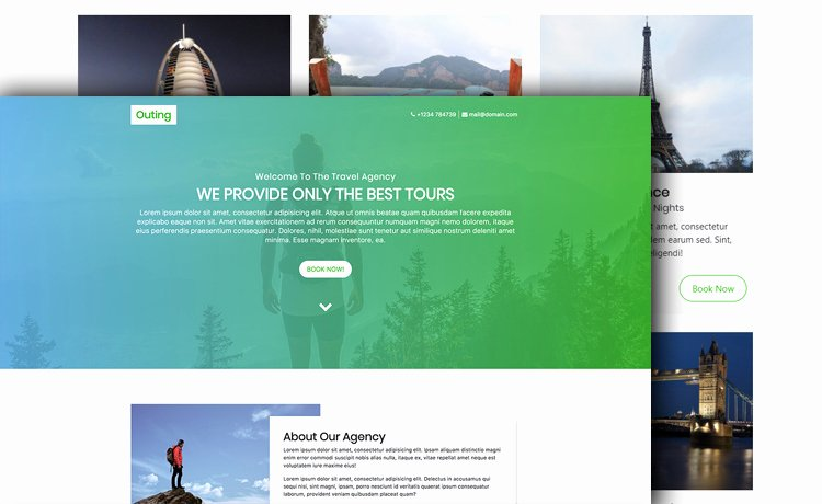 Travel Agency Website Template New Free HTML5 Bootstrap 4 Travel Agency Website Template with