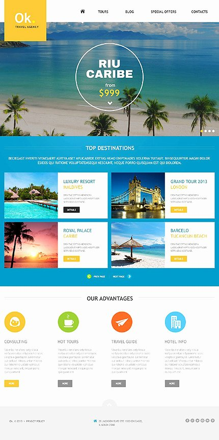 Travel Agency Website Template New Pleasing Travel Website Templates