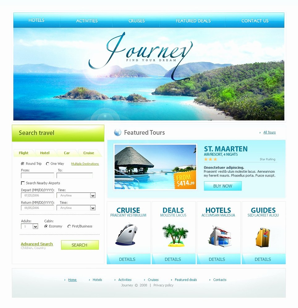 Travel Agency Website Template New Travel Agency Website Template