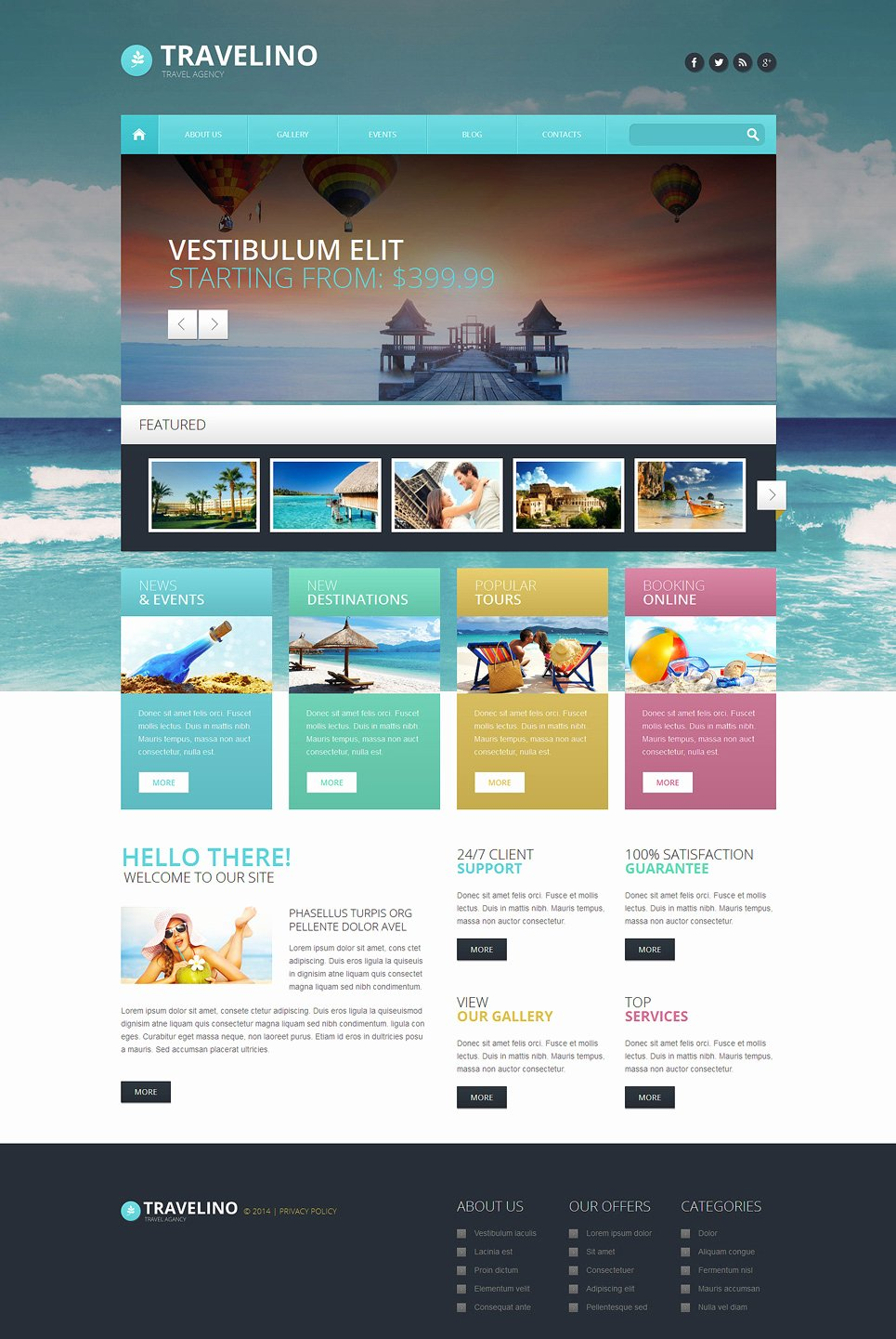 Travel Agent Website Template Awesome Travel Agency Responsive Wordpress theme
