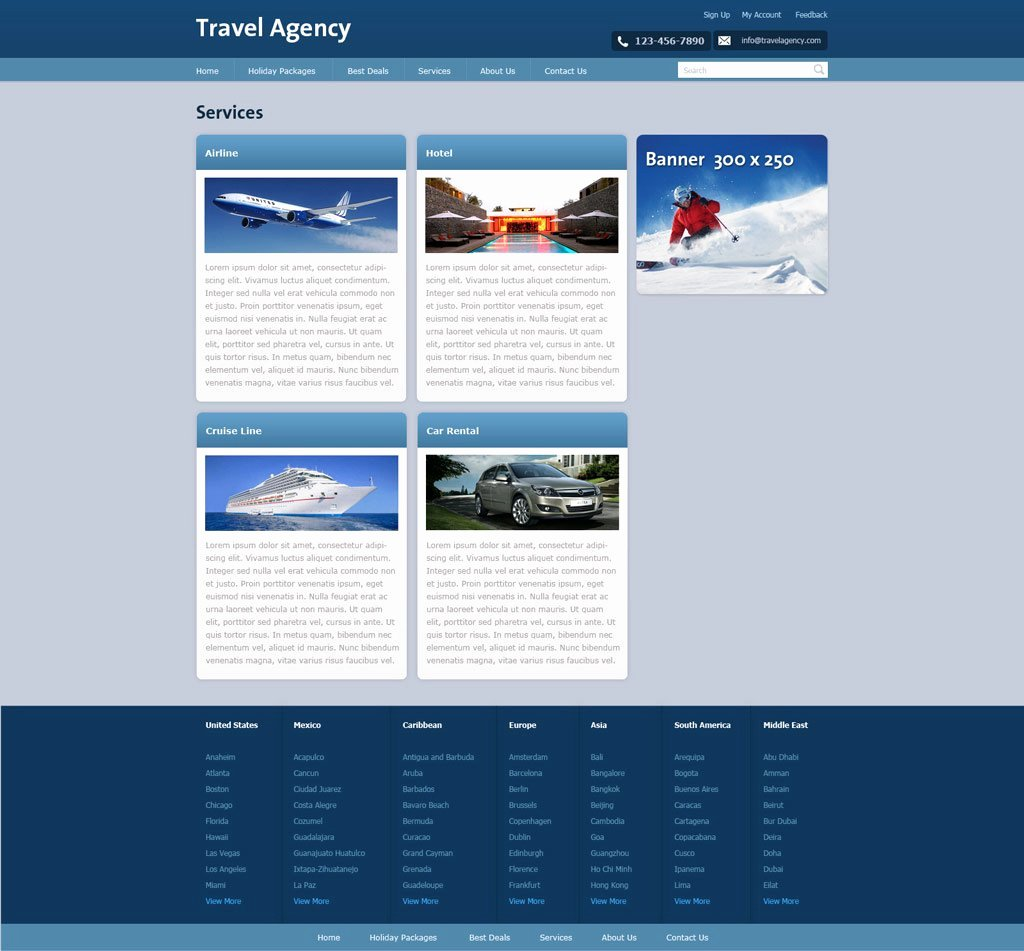 Travel Agent Website Template Beautiful Free Travel Agency Website Template