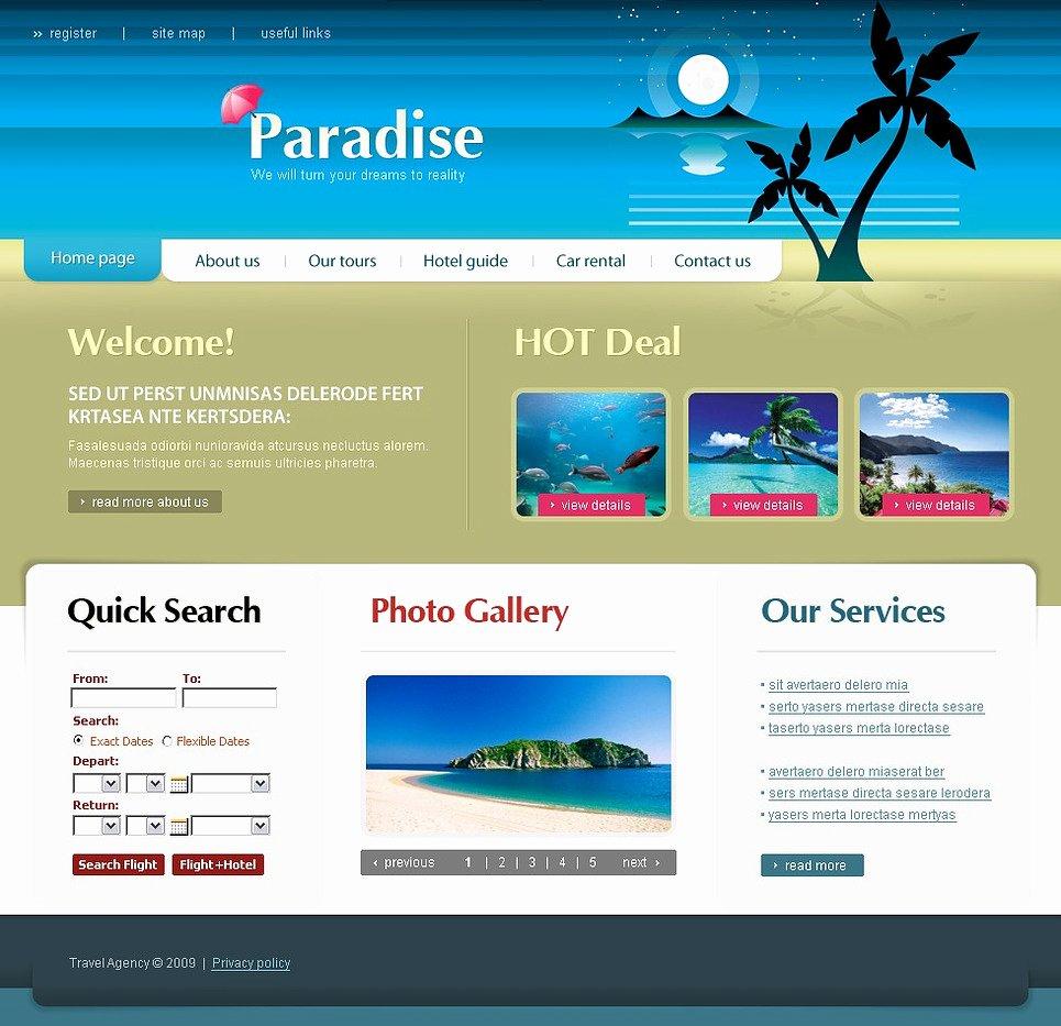 Travel Agent Website Template Beautiful Travel Agency Website Template