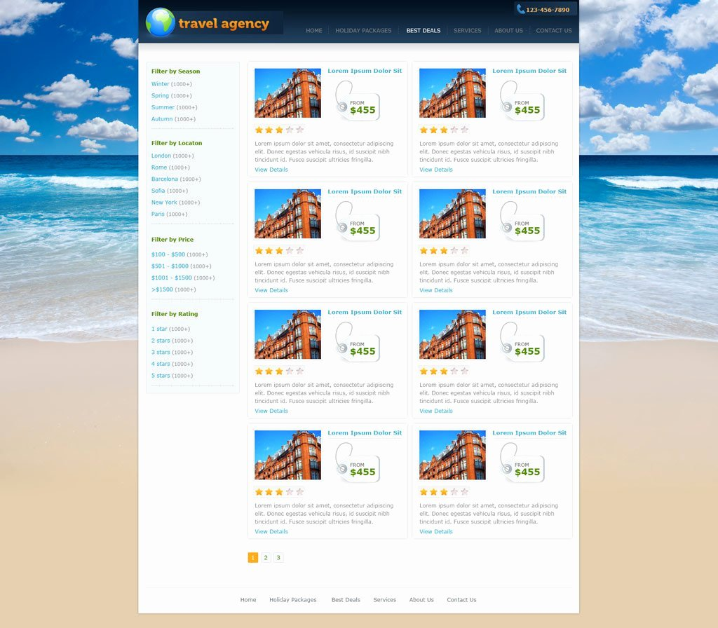 Travel Agent Website Template Beautiful Travel Website Template
