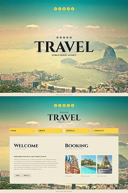Travel Agent Website Template Best Of Pleasing Travel Website Templates
