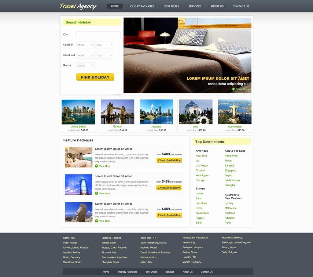 Travel Agent Website Template Elegant Travel Website Template