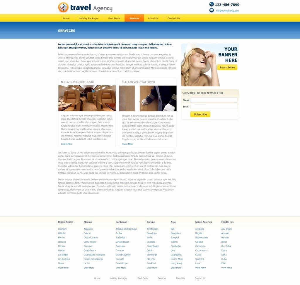 Travel Agent Website Template Fresh Free Travel Agency Website Template