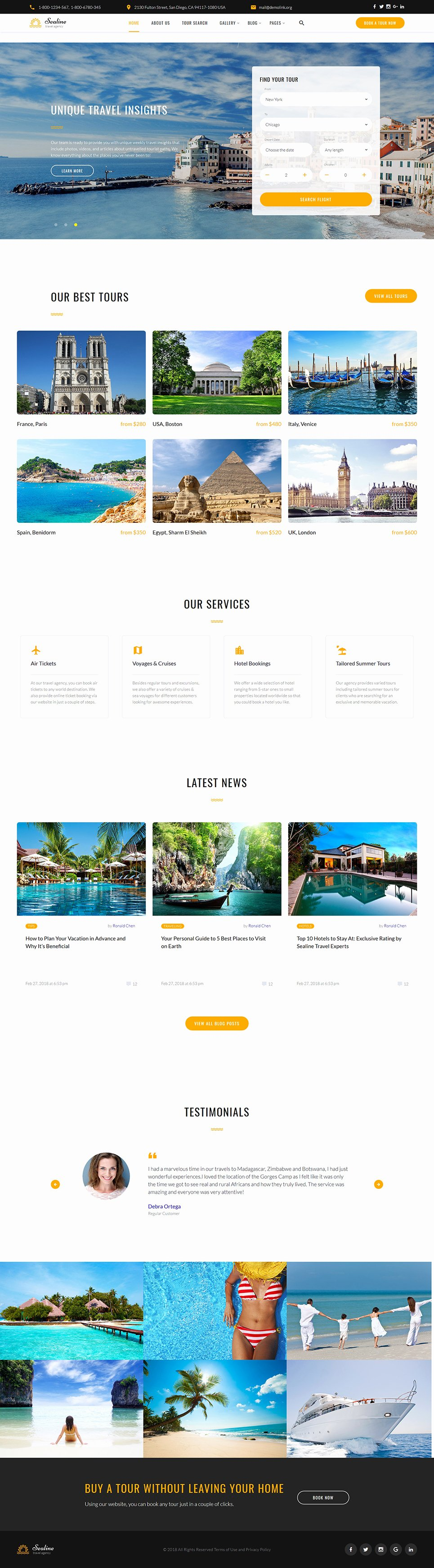 Travel Agent Website Template Fresh Travel Agency Responsive Website Template