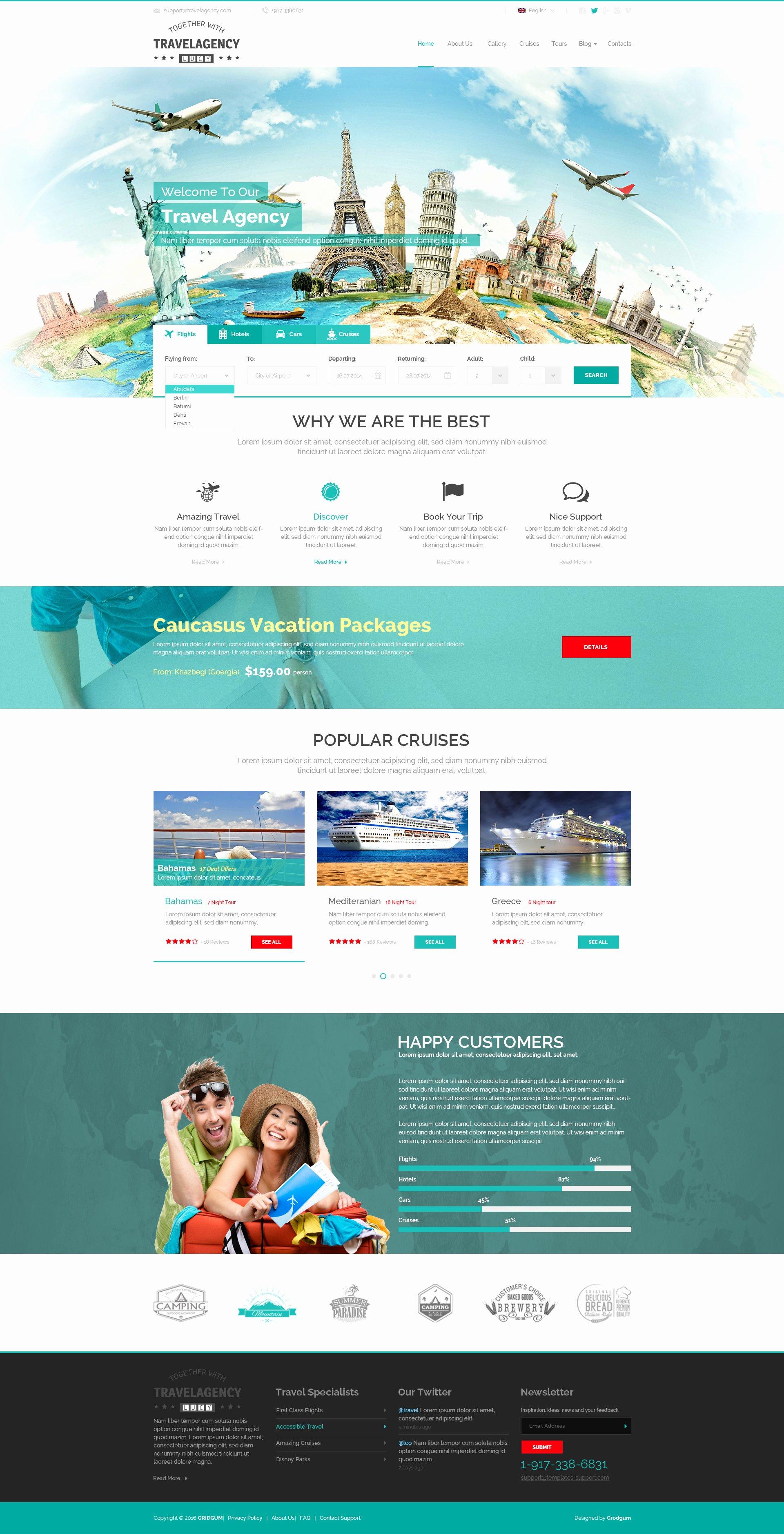 Travel Agent Website Template Fresh Travel Agency Website Template theme