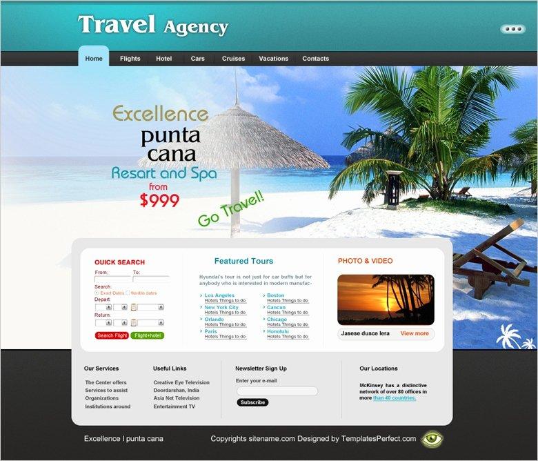 Travel Agent Website Template Inspirational Free Travel Agency Website Template