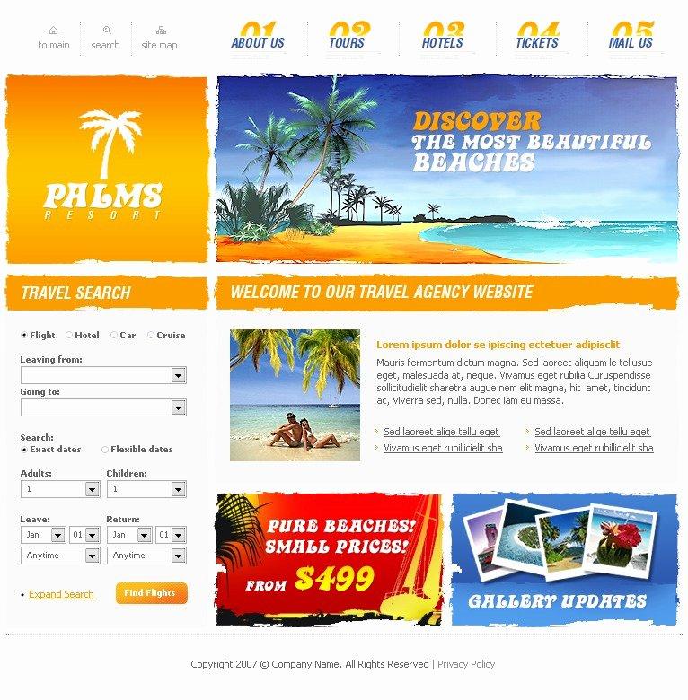 Travel Agent Website Template Inspirational Travel Agency Website Template