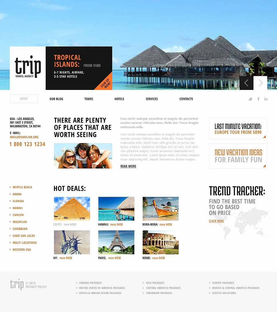 Travel Agent Website Template Luxury Travel Agency Joomla Template