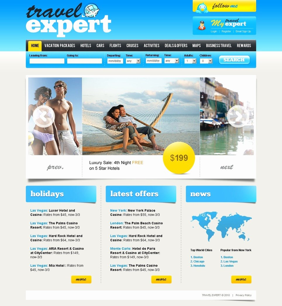 Travel Agent Website Template Luxury Travel Agency Website Template
