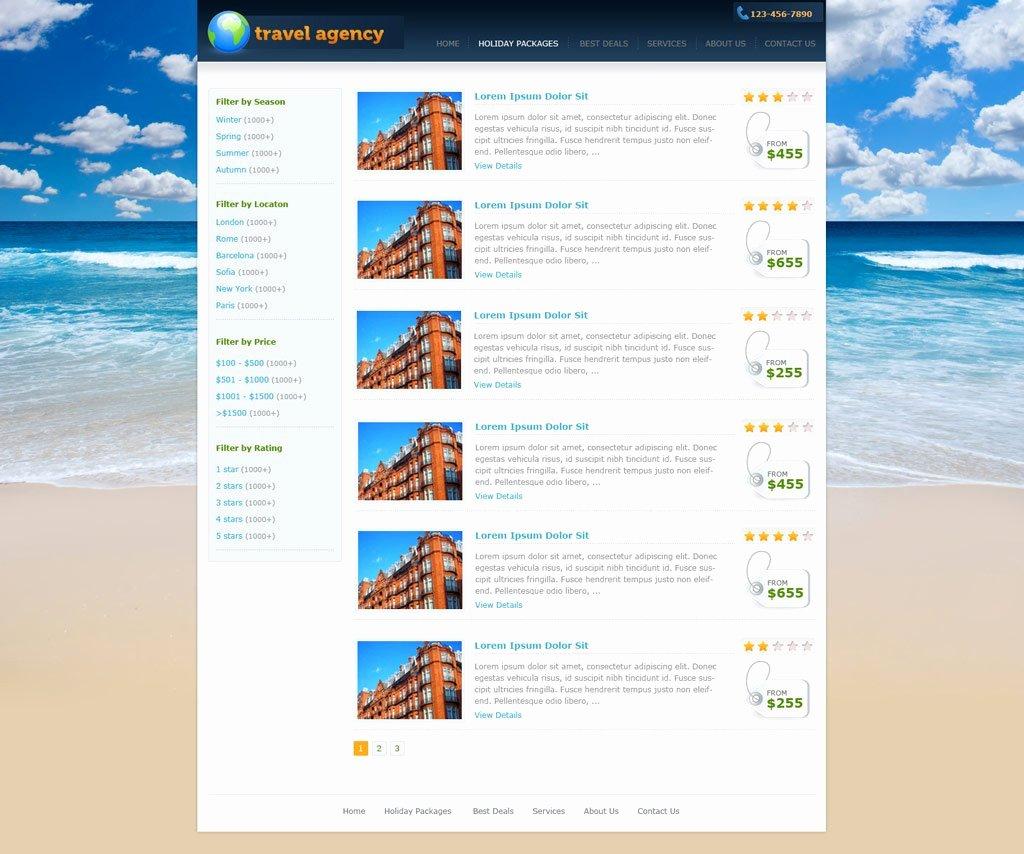 Travel Agent Website Template Luxury Travel Website Template