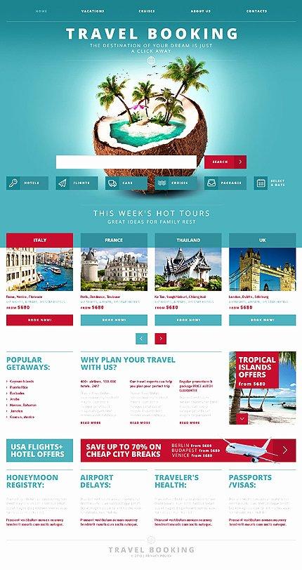 Travel Agent Website Template Luxury White & Cyan Travel Agency Website Template by Glenn