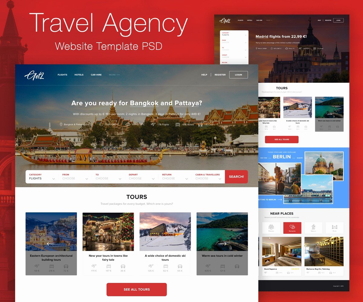 Travel Agent Website Template Unique Add Review Page Wordpress