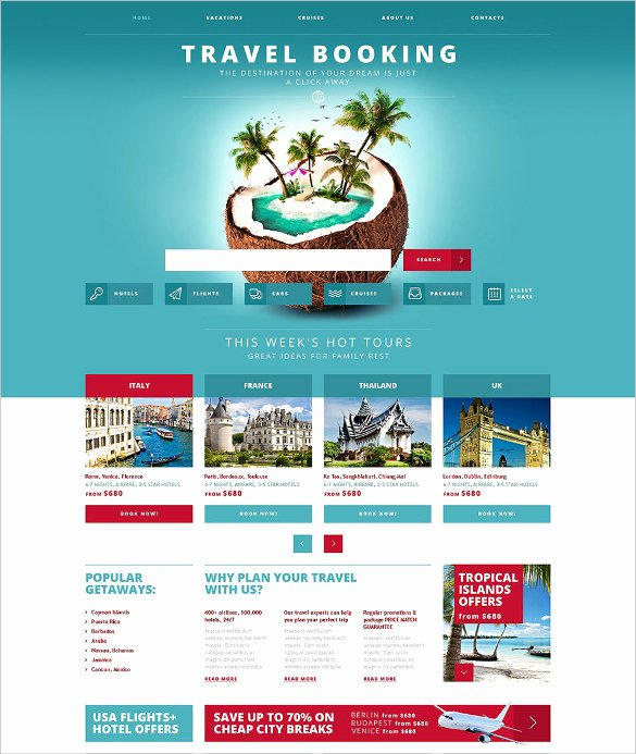 Travel Agent Website Template Unique Best Premium Travel Agency Templates top Free themes for