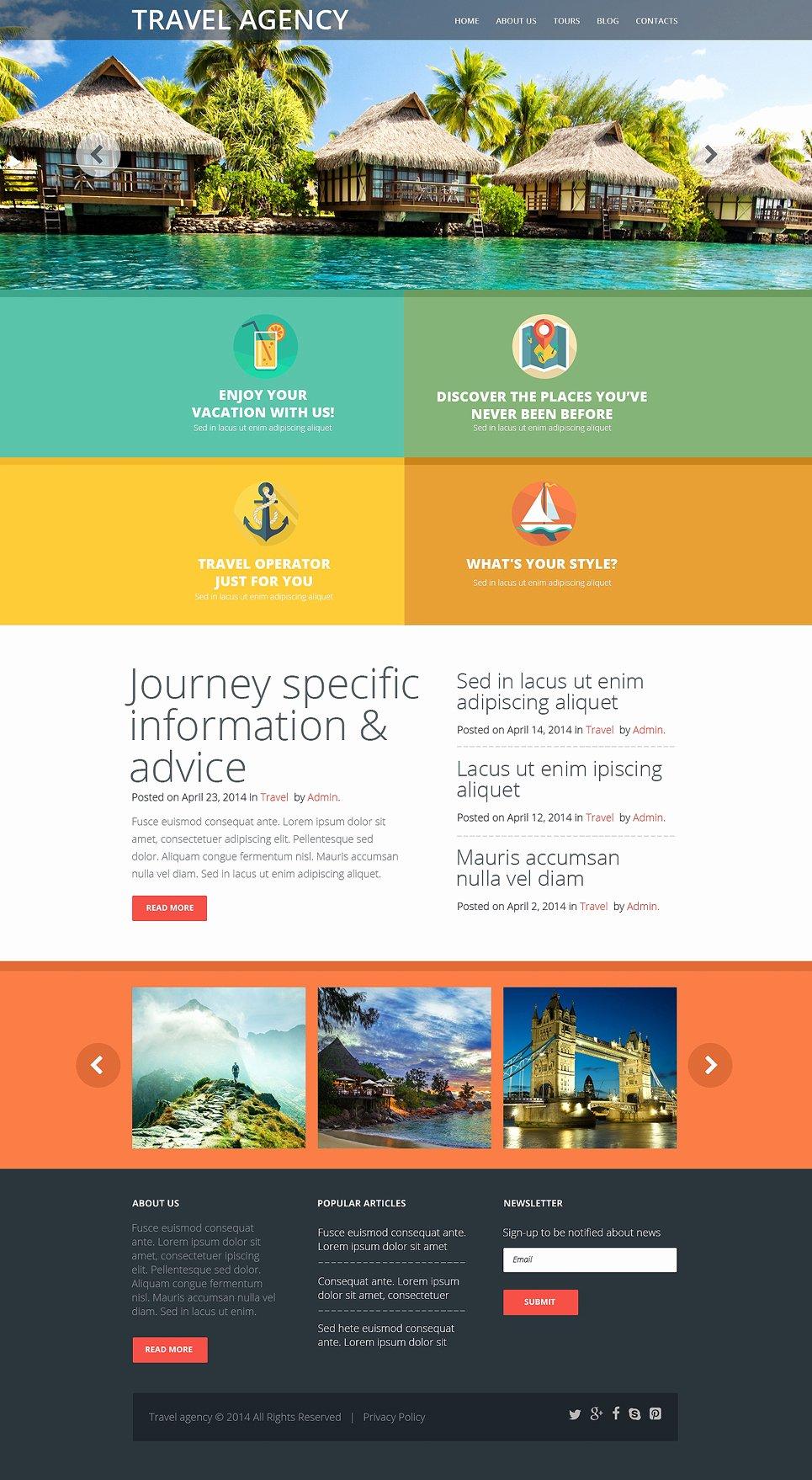 Travel Agent Website Template Unique Travel Agency Responsive Website Template