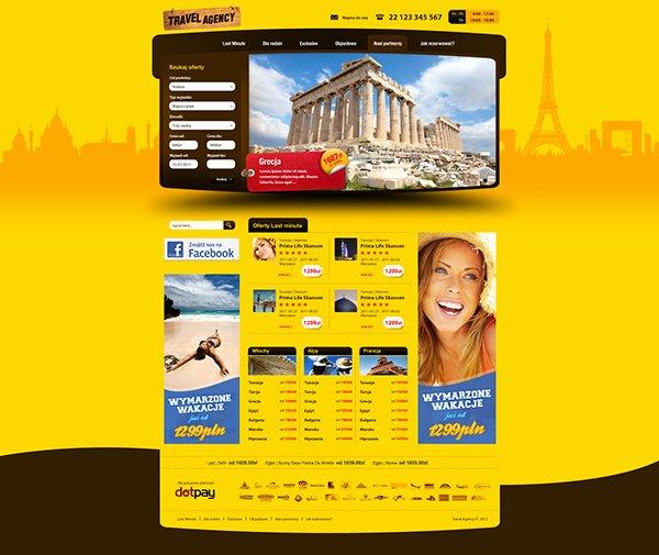 Travel Agent Website Template Unique Travel Agency Website Templates On Behance