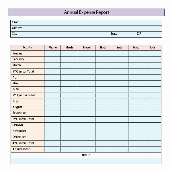 Travel Expense Report Template Excel Lovely 9 Sample Expense Report Templates