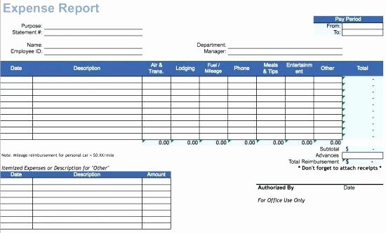 expense report form template pdf free