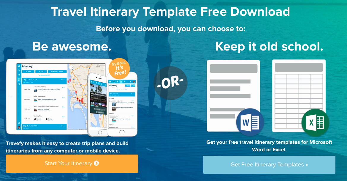 Travel Itinerary Planner Template Best Of 9 Useful Travel Itinerary Templates that are Free
