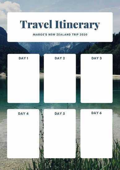 Travel Itinerary Planner Template Best Of Customize 610 Planner Templates Online Canva