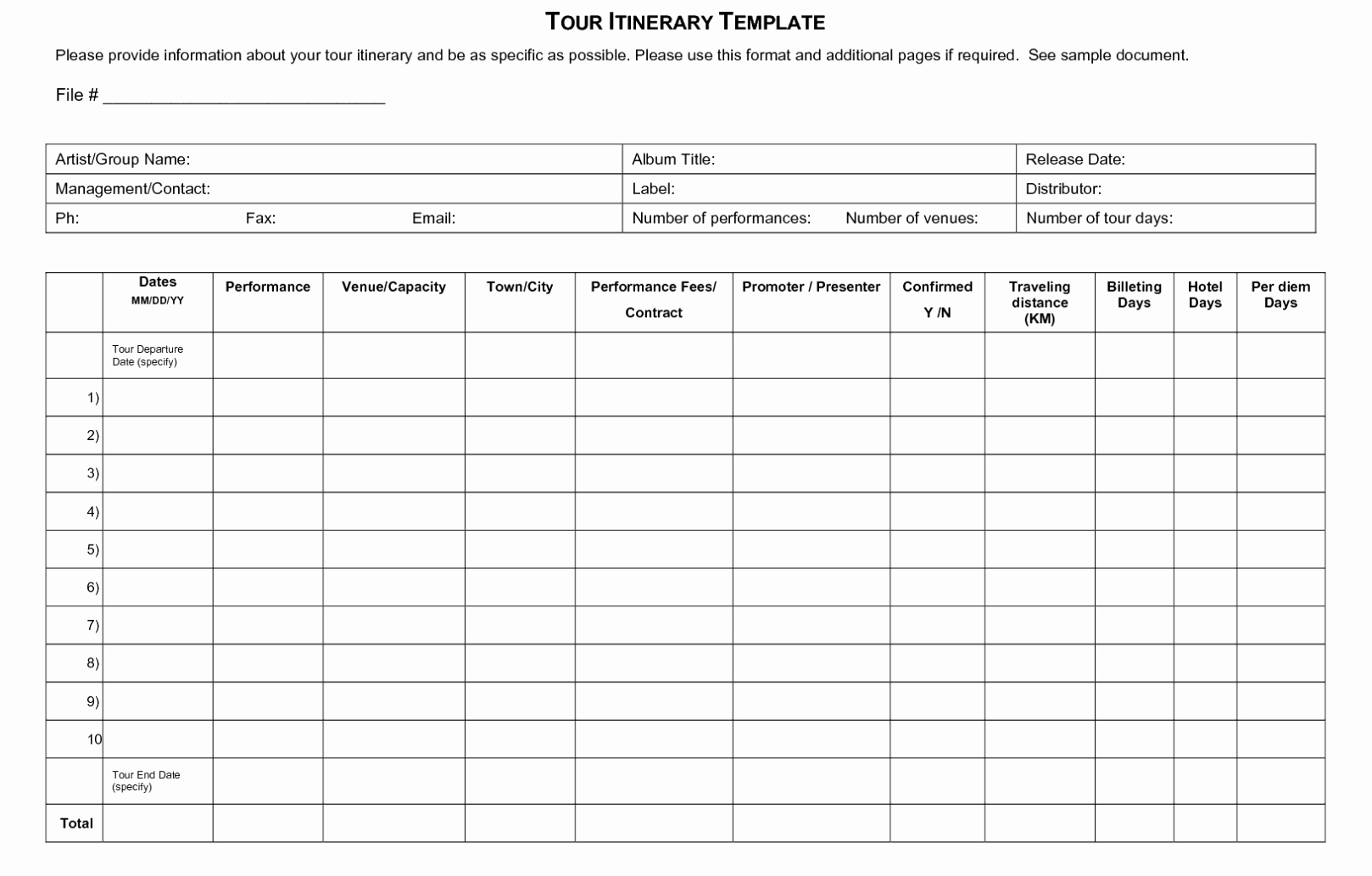 Travel Itinerary Planner Template Best Of Free Trip & Business Travel Itinerary Template